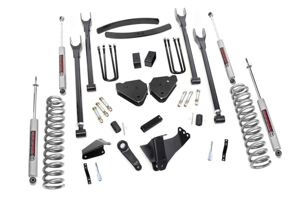 6in Ford 4-Link Suspension Lift Kit (05-07 F-250/350 | Gas - w/Overloads )