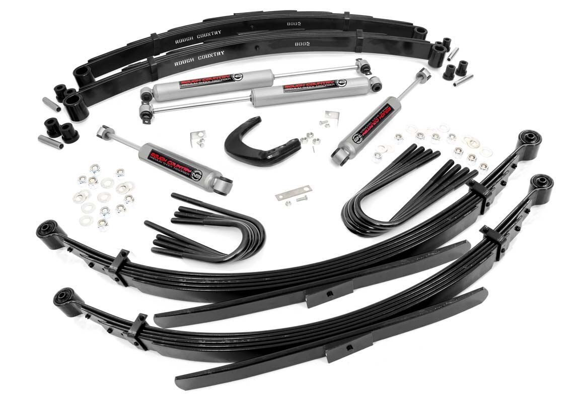 4in GM Suspension Lift System (88-91 3/4-Ton Suburban 4WD | 52in Rear Springs)