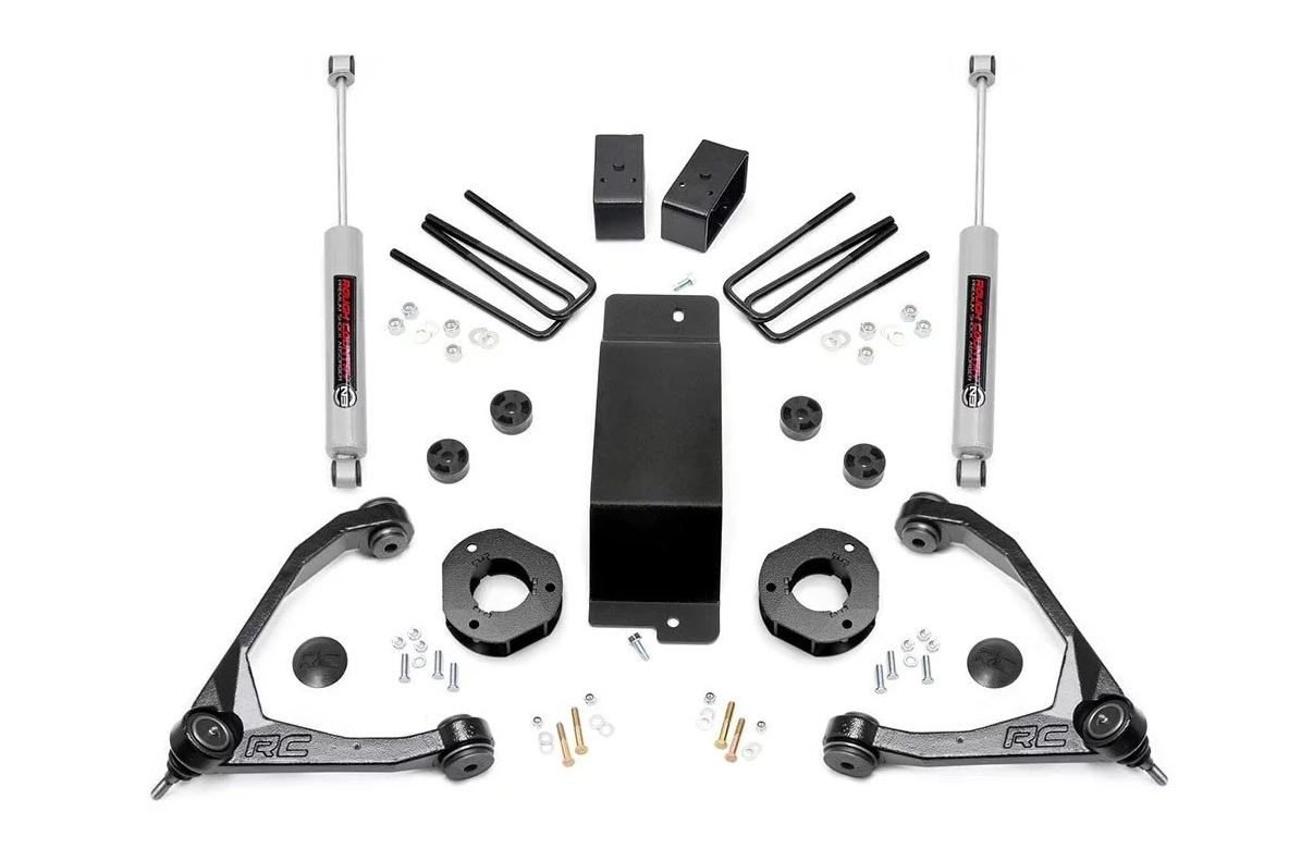 3.5in GM Suspension Lift Kit w/Forged Upper Control Arms (07-16 1500 PU 4WD)