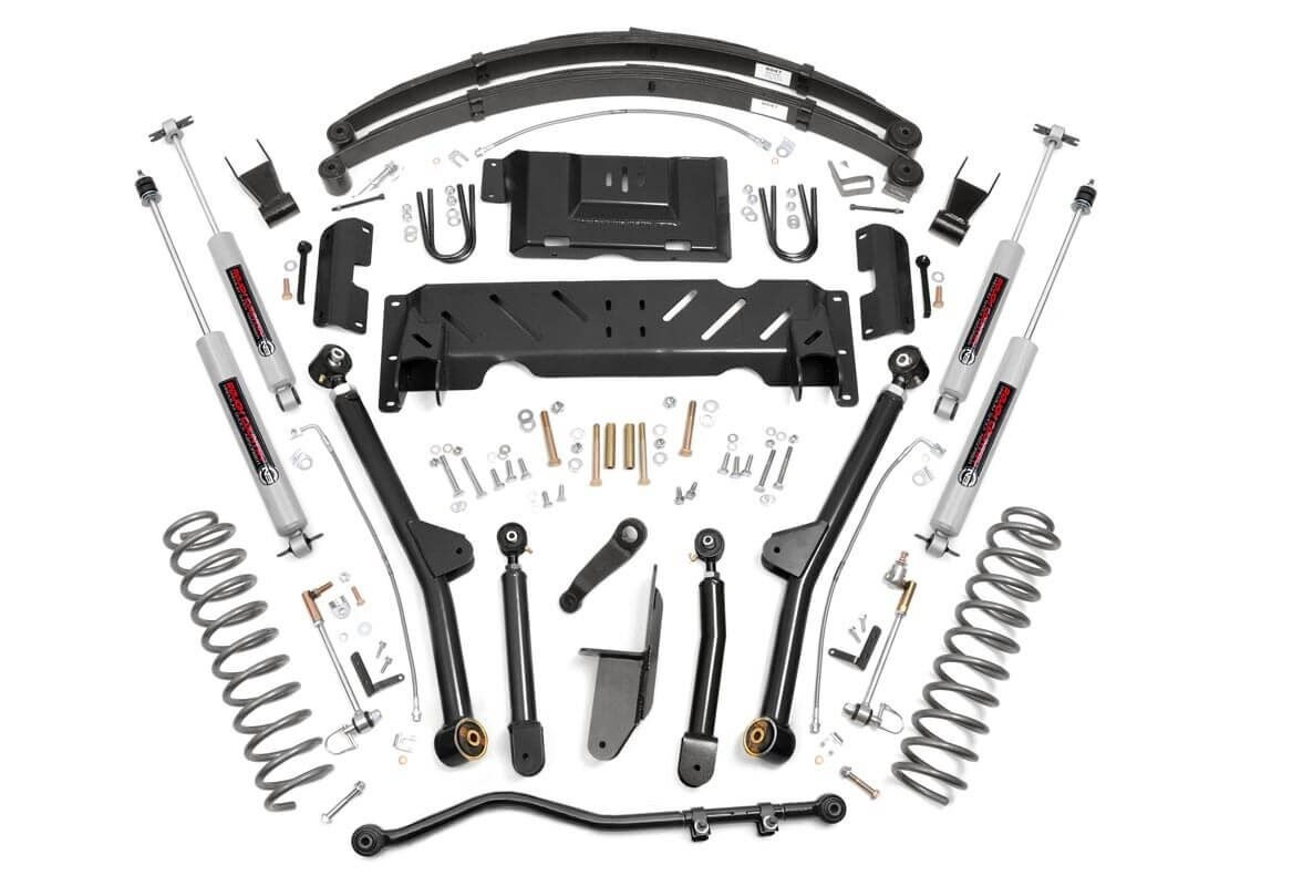 6.5in Jeep Long Arm Suspension Lift System (84-01 XJ Cherokee)